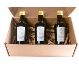 CHRISTMAS GIFT - BOX OF THREE BOTTLES OF OLIVE CLUB ALFA PREMIUM 250 ML