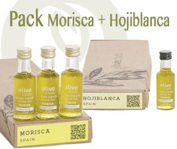 Aceite de Oliva Virgen Extra Oliveclub Set de 2 estuches Hojiblanca y Morisca