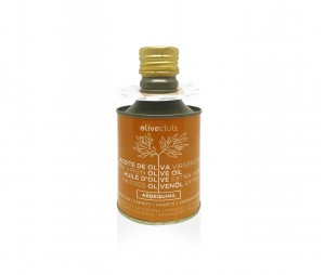 Olivenöl extra Oliveclub Arbequina dose 250 ml.