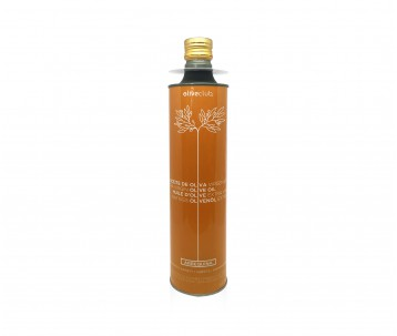 Extra virgin olive oil Oliveclub Arbequina Tin 750 ml.