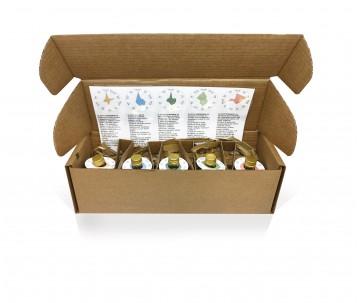 Olio extra vergine di oliva Oliveclub Pack5  bottiglia 50 ml