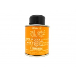 Extra virgin olive oil Oliveclub Arbequina Tin 100 ml.