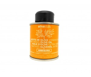 Olivenöl extra Oliveclub Arbequina dose 100 ml.