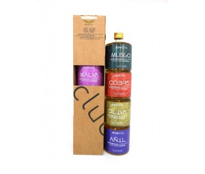 Los colores del AOVE Oliveclub estuche 4 botella 50 ml