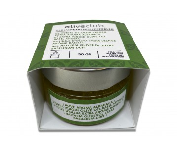 Perlen Aus Nativem Olivenöl Extra Mit Basilikumaroma 50 G